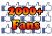 add 2000+ Facebook FANS Likes to Your Fan Page in 24 hours