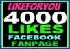 add 4500+ High Quality Facebook Likes, Fans to your Page,likes in less than 15 hrs 