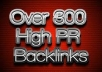 create 500 high PR backlinks using blog comments