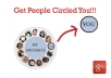 give you 100+ people to add you to their google plus circle