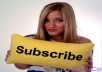 give you 1000 YouTube Channel Subscription Service
