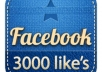 add GUARANTEED 3000 facebook fans/likes to your fan page very fast