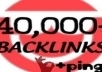 make 40000 blog comment backlinks just