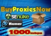 give you FIVE Blazing Fast Private Proxies on our New 1000Mbps Proxy Servers for