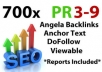 make700+ Pr 9 to 3 Angela style backlinks, bookmark include some edu or gov sites only