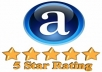 review and rate your website or page on Alexa just within 24 hours only