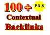 give 100+ Permanent Dofollow Contextual Backlinks + Ping For Fast Indexing