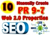 Manually Create 15 PR5-PR8 Web 2 0 Properties and Give you All Logins Detail With Full Report