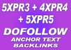 Create back on 5XPR3 + 4XPR4 + 5XPR5 do follow actual PR pages Google is just loving do follow backlinks those are being created on do follow pages with High PR. 