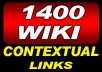 get you 1400 Plus WIKI Links From High Pr Root Domains And Edus To Deliver Search Engine Smashing Traffic To Your Website all unique domain