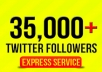 add 35,000 real looking twitter followers to your account within 24 hours