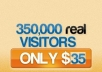 give you 100,000 real human visitors to your website or affiliate link