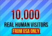send 10,000 real human visitors from USA and Canada to your site within 48hours