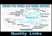 give you a List to 500 HIGH PR WEB 2.0 WEB SITES