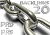 manually submit your site to top 20 high PR social bookmark sites - backlinks