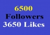 get 6500 instagram followers AUTHENTIC and 3650 instagram likes to your account In 24 hour and without password