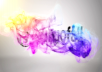 make a professional colorful particle logo reveal video