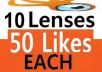 deliver guaranteed 500 squidoo likes,50 to every one of your ten lenses