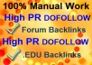 Manually create 45 Varified PR7-PR4 DOFOLLOW Angela Backlinks including 8 Dofollow EDU Backlinks