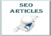 Write a Genuine 400-500 Word High Quality SEO Optimized Article