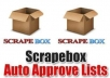 provide 5000 auto approve blogs ,great for scrapebox, for