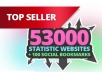 submit your site to 53K statistic websites + 100 Social Bookmarks for