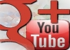 give you 10+ google plus, 10+ youtube like, 10+ youtube subscriber