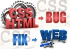 find and fix any Html and CSS bug on your any website just