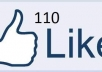 provide you 110 facebook fan pages likes