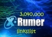 give you 3,040,000 xrumer links list no DUPLICATES + 1 free gig