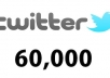 Provide u +60000 [60k] twitter FOLLOWERS [Very Fast]