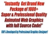 give you Brand New Package Of Over 1,000 Top Quality Animated Web Graphics