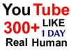give you 300+ Guaranteed YouTube Likes [Real human NO PROXIES and BOTS] to your new video in 1 days