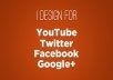 design a PROFESSIONAL background or cover/banner for Twitter, Facebook, YouTube, or Google+ that matches your website