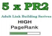 place your links at our 5xPR2 adult site