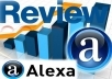 give you amazing 25 alexa 5 star review for your website or blog listing for higher ranking and seo boost 
