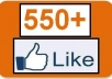 supply you 550+ Facebook Likes to your Photo/Post/Page