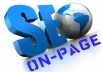 make you a complete on-page SEO analysis and give you tips and directions on how to improve your on-page SEO for your homepage based on your desired keywords