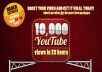 give you 10,000+ youtube video views in 72 hours