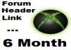 put your link under my PR2 forum header for 6 month