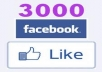 ADD 30OO Facebook likes to your fanpage
