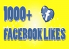 make 1000+ FACEBOOK likes within 48 hours for your fanpage