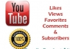 Increase your +150 youtube like+,150 youtube views+20 better comments to your youtube videos By 100% real & active user its only for