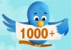 send you twitter followers 1000+  without the password