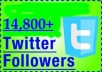 create an account with Real Looking twitter followers that is around 14800++ without your admin access