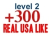 get you 300+ Real USA YouTube Likes for your vid. on not less than 15 hours,Advertise it to 10,000 Twitter Follower and 10,000 Facebook fans 