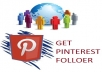 give you 300+ PINTEREST rEal followers only for