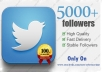provide you 10000+ real looking twitter followers to any twitter account >>1 month replacement