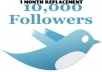 ★ get you 10000 real looking twitter FOLLOWERS in less then 8 hours ★