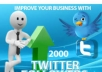 create for you a REAL 2000+ Guaranteed High Quality twitter followers within 48 hours and without any admin access